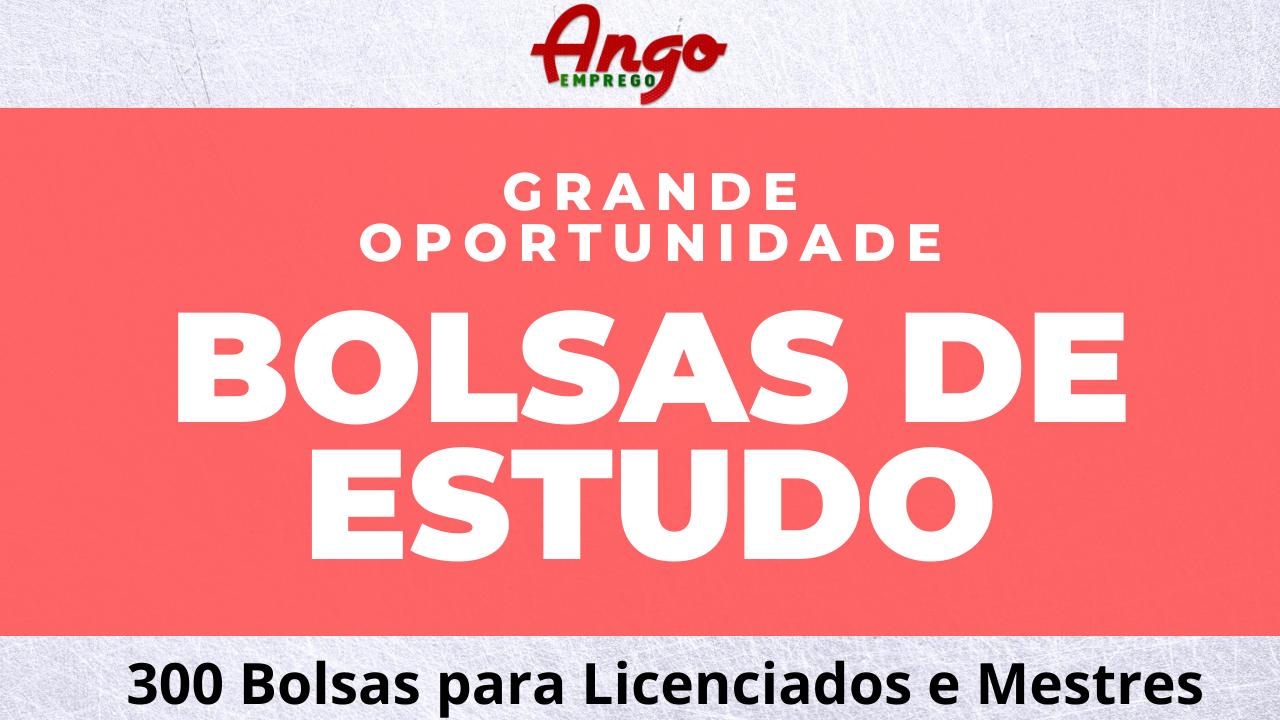 INAGBE: 300 Bolsas para Licenciados e Mestres