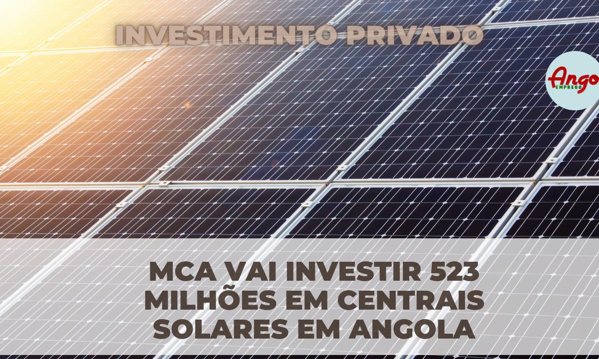 Centrais solares em Angola vão Aumentar EMPREGOS